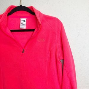 The North Face Hot Pink Quarter Zip Fleece